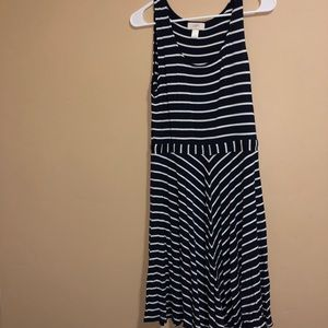 Striped Navy blue and white dress